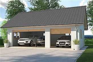 Projekt garażu APG 6B garaż