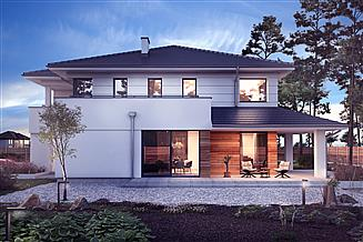Projekt domu Willa sosnowa z garażem 2-st. [A]