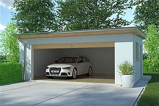 Projekt budynku gospodarczego APG 9 garaż
