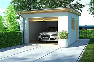 Projekt garażu APG 8 garaż