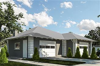 Projekt garażu G369 - Budynek garażowo - gospodarczy