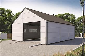 Projekt garażu G145DS w konstrukcji stalowej