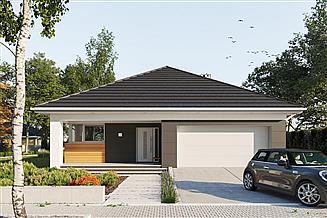 Projekt domu Kordian Alfa - murowana – beton komórkowy