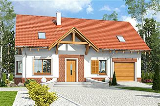 Projekt domu Zgrabna z garażem 1-st. [A]