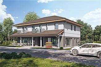 Projekt budynku usługowego Murator UC73 Budynek usługowy z częścią mieszkalną