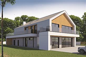 Projekt budynku usługowego Budynek usługowy BMU-430 wariant 3