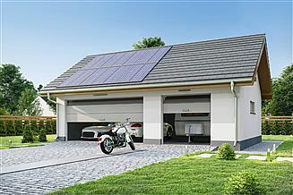 Projekt garażu Garaż G3A
