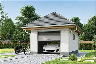 Projekt garażu Garaż G1B