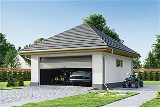 Projekt garażu Garaż G2B