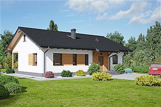 Projekt domu Adomierz 1dws