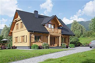 Projekt domu Piekarów dw