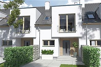 Projekt domu Iskra segment środkowy