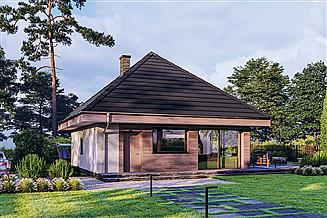 Projekt domu Murator C444v1 Czterolistna koniczyna - wersja 1