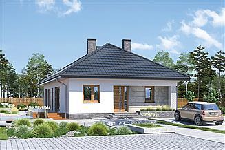 Projekt domu Murator M242e+AR1 Od serca - wariant V (aranżacja 1)