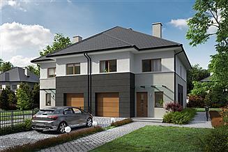 Projekt domu Eco 23 - dwulokalowy