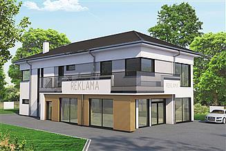 Projekt budynku usługowego Primavera 3