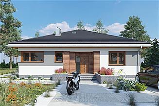 Projekt domu Kwadra Ton - murowana – beton komórkowy