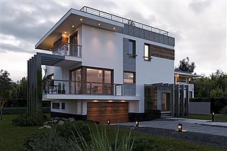 Projekt domu Izolda - murowana – beton komórkowy