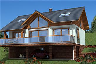 Projekt domu A-151 Dom szkieletowy