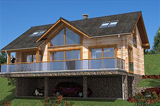 Projekt domu A-151 Dom z bali