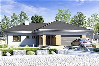 Projekt domu Dolomit II z garażem 2-st. [A]