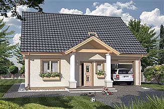 Projekt domu Harmonia Dworek A 100 MDM