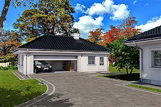Projekt garażu Budynek garażowo – gospodarczy G55CS