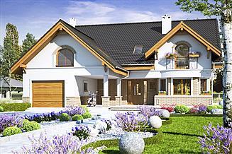 Projekt domu Wega z garażem 1-st. [A1]