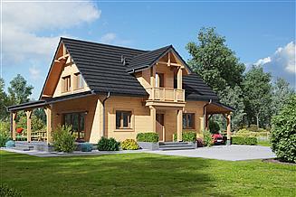 Projekt domu Paczkowice 55dws