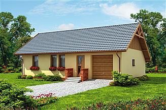 Projekt domu Bergamo 2 C szkielet drewniany, dom mieszkalny całoroczny