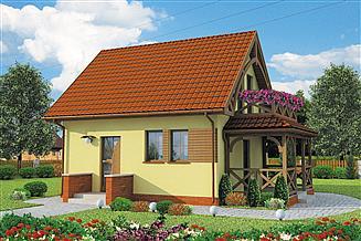 Projekt domu Orlean C dom mieszkalny, cał. szk. drew. ogrzewanie kominek z płaszczem wodnym