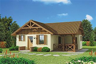 Projekt domu Bogota C dom mieszkalny, całoroczny szkielet drewniany