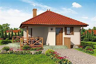 Projekt domu Vigo C dom mieszkalny, całoroczny