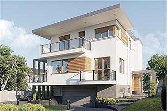 Projekt domu Tristan - murowana - beton komórkowy