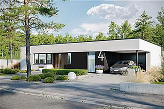 Projekt domu Mini 4 G1 modern energo