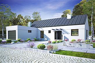 Projekt domu Żurawinka z garażem 1-st. [A1]