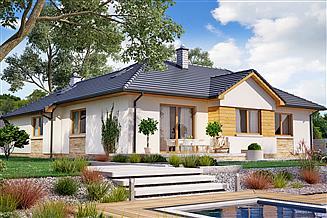 Projekt domu BW-16 wariant 1 z garażem lub bez