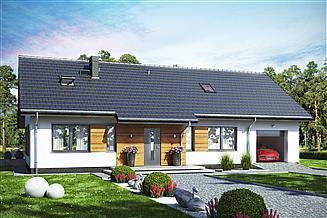Projekt domu Terrier Max z garażem