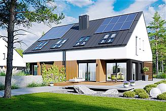 Projekt domu Lukas II G1 wersja A (bliźniak) energo