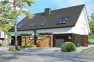 Projekt domu Lukas II G1 wersja B (bliźniak) energo