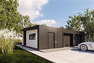 Projekt budynku gospodarczego G350 - Budynek garażowo - gospodarczy