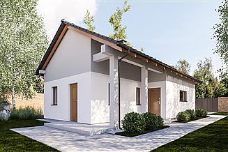 Projekt budynku gospodarczego G368 - Budynek garażowo - gospodarczy