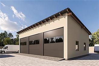 Projekt budynku gospodarczego G373 - Budynek garażowy