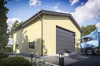 Projekt budynku gospodarczego G380 - Budynek garażowy