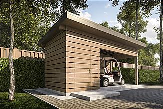 Projekt altany G381 - Wiata drewniana