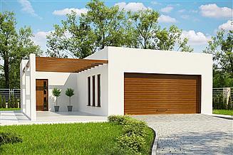 Projekt budynku gospodarczego G386 - Budynek garażowo - gospodarczy