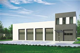 Projekt budynku gospodarczego G387 - Budynek garażowo - gospodarczy