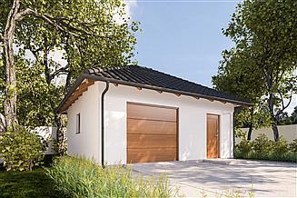 Projekt budynku gospodarczego G388 - Budynek garażowo - gospodarczy