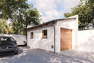 Projekt garażu G390 - Budynek garażowy