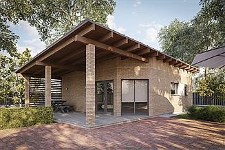 Projekt domu letniskowego G395 - Budynek rekreacji indywidualnej